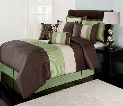 the great find green brown and white boston bedding set