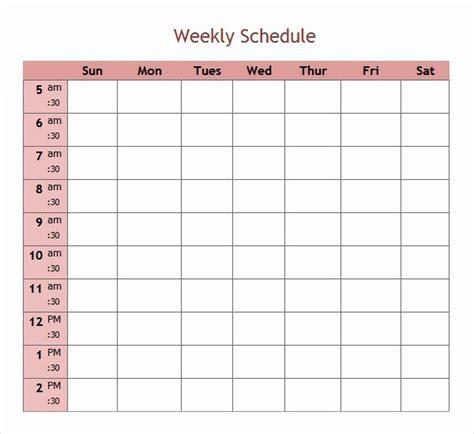 day work schedule template   calendar