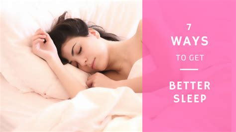 7 Simple Ways To Get Better Sleep  Her Own Health