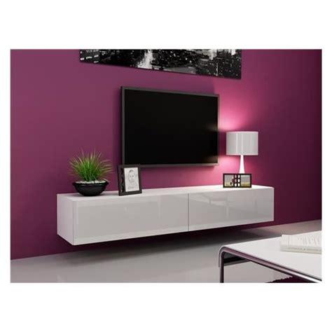 Meuble Tv Design Suspendu Vito 180 Blanc