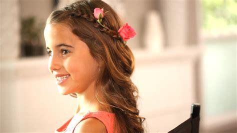 easy   flower girl hairstyles wedding kin beauty