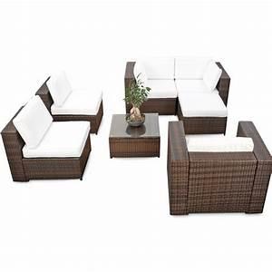 Gartenmöbel Polyrattan Lounge : modulares 21tlg xxl lounge gartenm bel polyrattan braun mix lounge m bel sets ~ Indierocktalk.com Haus und Dekorationen