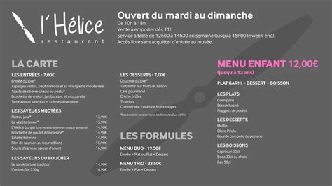 Carte De Menu Restaurant Original by Restaurant Mus 233 E De L Air Et De L Espace