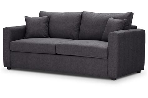 Sofa Co by Oxford Medium Sofa Bed Charcoal Highly Sprung Sofas