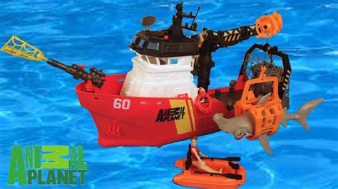 Toy Boat In Sea by New Deep Sea Shark Research Playset By Animal Planet