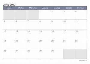 Calendario junio 2017 para imprimir iCalendario net