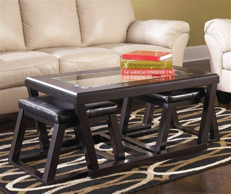 Shop for coffee end table set online at target. Signature Design By Ashley Kelton Coffee Table with Nesting Ottomans - Big Lots   Coffee table ...