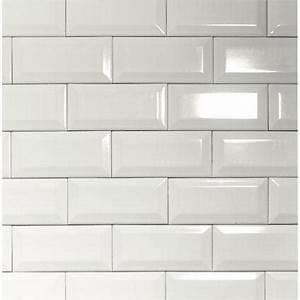 Faience Metro Blanc : carrelage mural 39 metro 39 blanc 7 5 x 15 cm ~ Farleysfitness.com Idées de Décoration