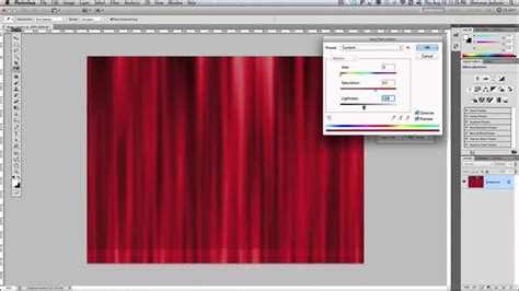 creating  realistic stage curtain   photoshop