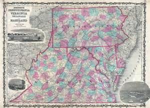 Virginia-Maryland Pennsylvania Map