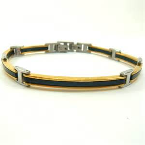black diamond wedding sets stainless steel gold and black design gents bracelet eg295