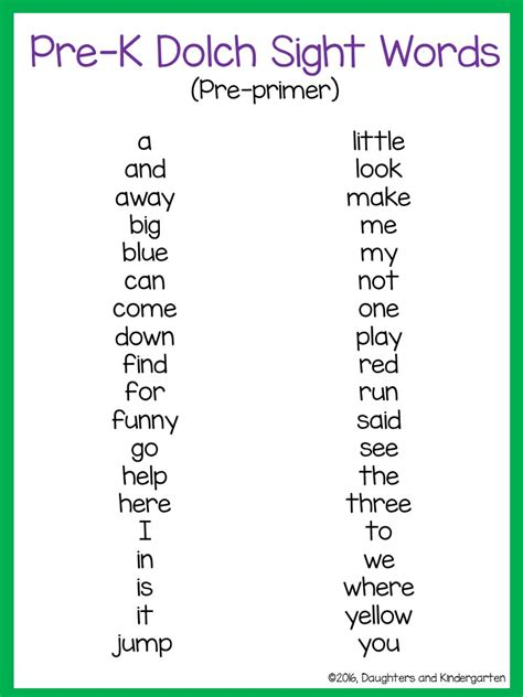 photos 4th grade 100 dolch words best resource 196 | daughters and kindergarten dolch sight word lists broken into 5 categories the dolch sight words are common amongst the prek 3rd grade language arts curriculum click on the pictures below for the free