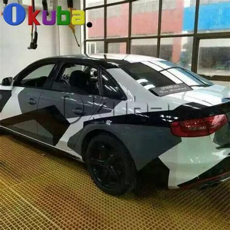blanc noir gris neige camo vinyle de voiture wrap style avec air rlease brillantmat arctique