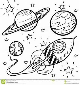 Space Exploration Or Astronomy Objects Sketch Stock Photos ...