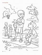 Lds Coloring Primary John Sheets Lesson Crafts Kolorowanki Wickedbabesblog Clean Sunday Disimpan Dari sketch template