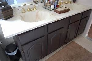 painting a bathroom vanity made2style With how to repaint bathroom