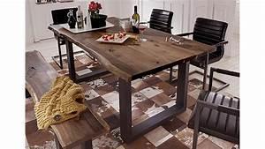 Holztisch Massiv Esszimmer : esstisch queens akazie massiv ge lt metall schwarz 200x100 cm ~ Indierocktalk.com Haus und Dekorationen