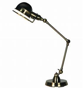 Lampe De Bureau Design Couleur Nickel E14 Milla