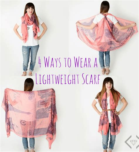unique ways to use 4 ways to wear a lightweight scarf lightweight scarves 4