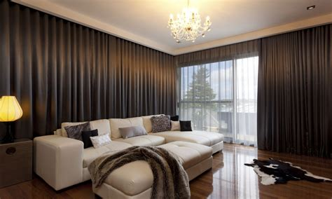 Living Room Curtains On by Black Out Curtain Curtain Ideas For Living Room Brown
