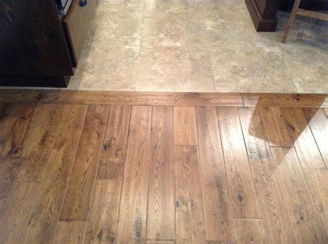 choosing  kitchen floor transition  tile  wood