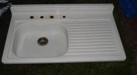 cast iron kitchen sink with drainboard farm kitchen sinks with drainboard vintage porcelain 9381