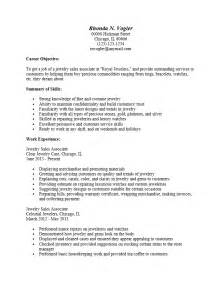pdf format resume sles free jewelry sales associate resume template sle ms word
