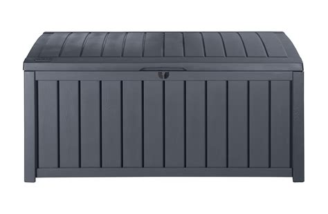 Keter Glenwood Deck Box by Keter Glenwood Plastic Deck Storage Box Outdoor Patio