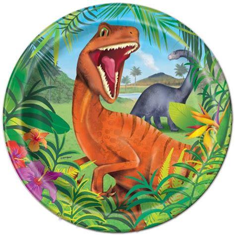 dinosaur jungle large paper plates ct