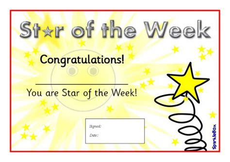 star   week certificates sb sparklebox