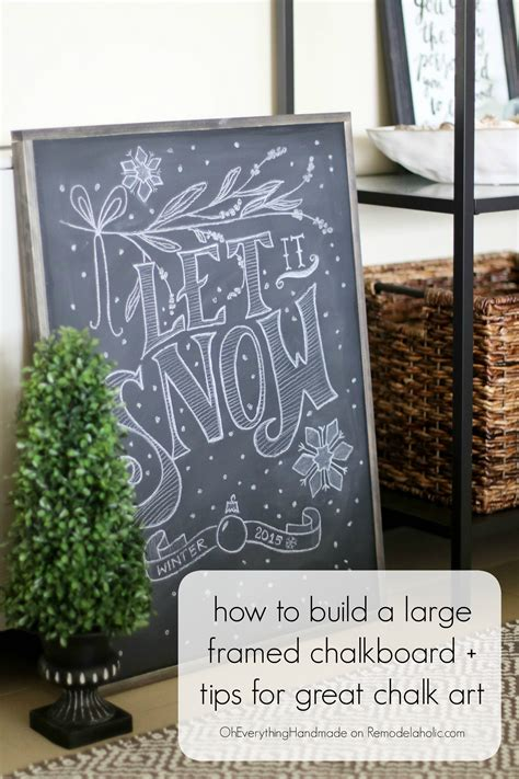 Remodelaholic  How To Make A Framed Chalkboard + Tips For