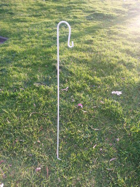 cm long white wedding garden shepherd hooks