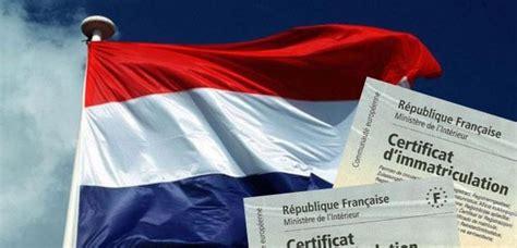 bureau carte grise carte grise véhicule hollande informations et démarches