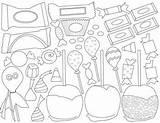 Candy Halloween Clip Coloring Pages Teacherspayteachers Hard Clipart Corn sketch template
