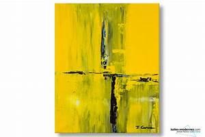 tableau jaune creation abstraite format vertical deco With gris bleu peinture 2 tableau jaune creation abstraite format vertical deco