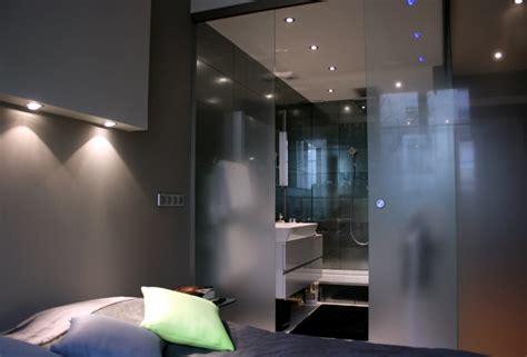 salle de bain ouverte dans chambre chambre avec salle de bain ouverte et dressing solutions