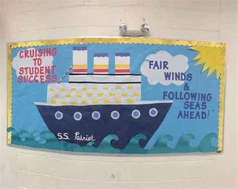 cruise ship bulletin board school stuff sailing