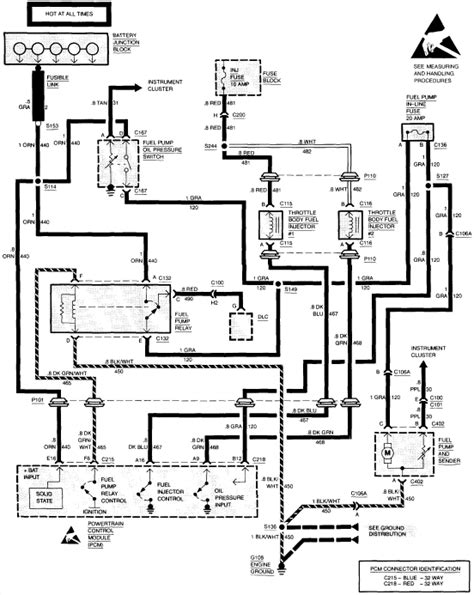 Charging System Wiring Diagram For 1998 Jeep Wrangler by 94 Chevy Or 95 Diagram Fuses Battery Junction Box