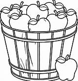 Apple Coloring Basket Pages Fruit Clipart Bowl Drawing Empty Apples Printable Tree Template Fall Print Picnic Colorings Getdrawings Getcolorings Rocks sketch template