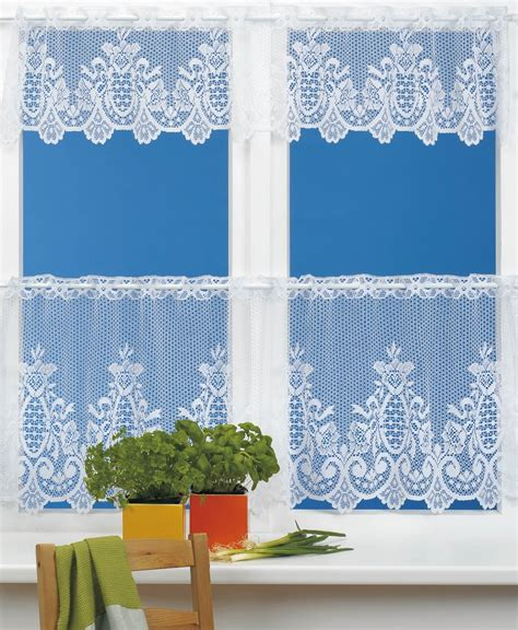 white lace kitchen cafe curtains for the kitchen country