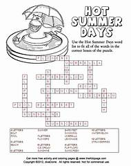 Free Printable Summer Crossword Puzzles For Kids