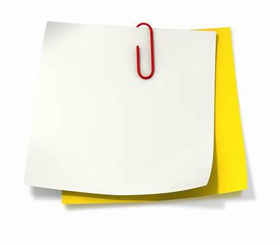 Paper Clip Clipart Note Cliparts Papers Wind