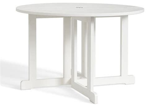 hstead painted drop leaf dining table white