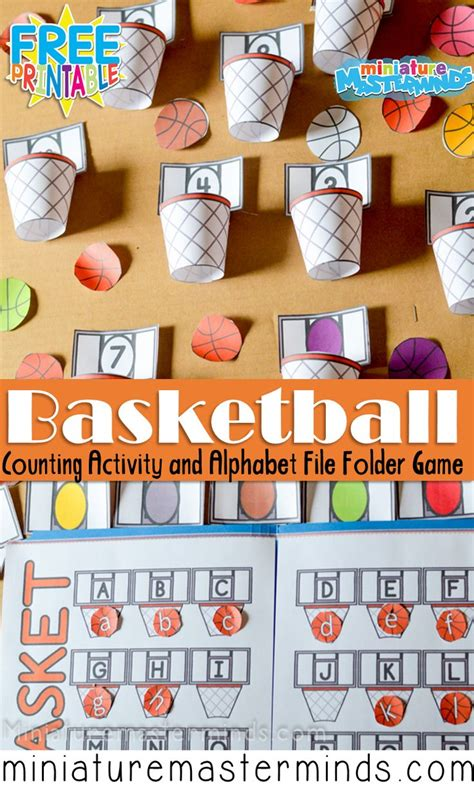 basket ball preschool counting  colors activity