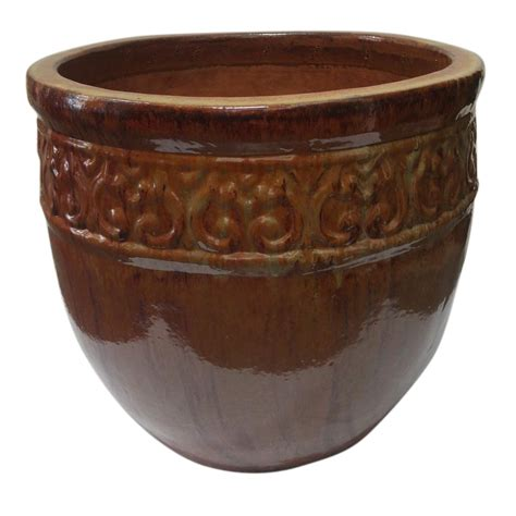 large ceramic planters the hip gardener premium x large ceramic planter 09022