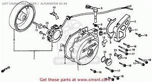 Honda Xr500r 1984  E  Usa Left Crankcase Cover    Alternator 83-84