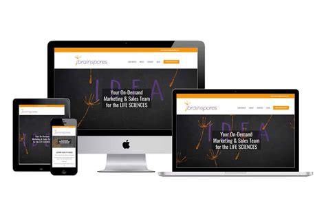 website design for brainspores mito studios