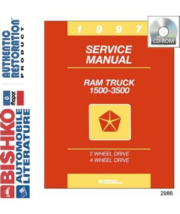 car maintenance manuals 1997 dodge ram 3500 transmission control 1997 dodge 1500 3500 ram truck body chassis electrical service manual cd