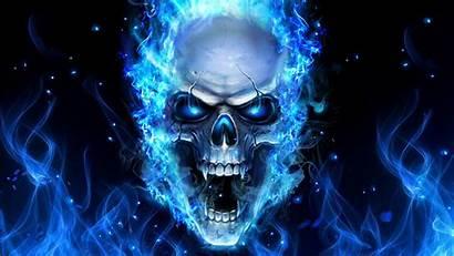 Wallpapers Skulls Skull Fire Cave