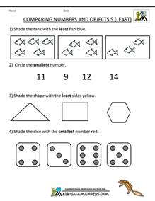 compare numbers worksheet kindergarten math worksheets comparing numbers and size
